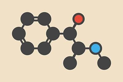 Ephedrine Herbal Stimulant Molecule Poster