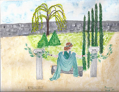 Poster featuring the photograph Epidaurus  by Deborah Moen