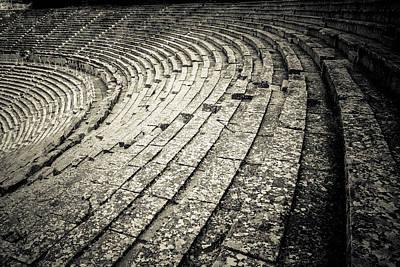 Epidavros Theatre Seats Poster by David Waldo