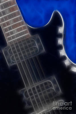 Epiphone Special 2 Les Paul-9691-fractal Poster by Gary Gingrich Galleries