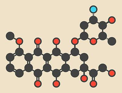 Epirubicin Cancer Drug Molecule Poster by Molekuul