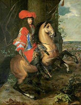 Equestrian Portrait Of Louis Xiv 1638-1715 Oil On Canvas Poster