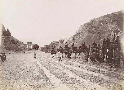 Equestrian Society Road In The Mountains Of Persia Poster