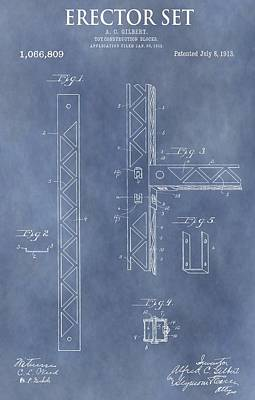 Erector Set Patent Poster by Dan Sproul