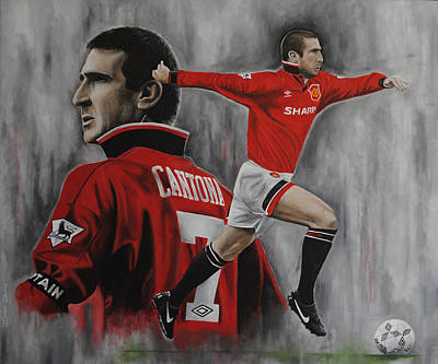 Eric Cantona Poster by David Dunne