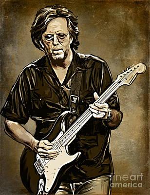 Eric Clapton Poster by Andrzej Szczerski