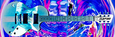 Eric Clapton Guitar Poster by Anthony Caruso