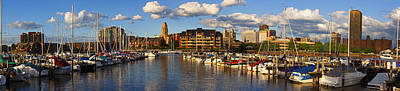 Erie Basin Marina Panorama Poster by Don Nieman