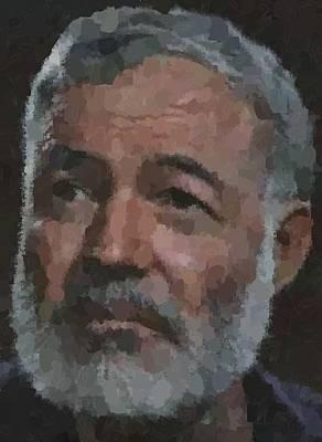 Ernest Hemingway Portrait Poster
