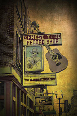 Ernest Tubb's Record Shop Poster by Randall Nyhof