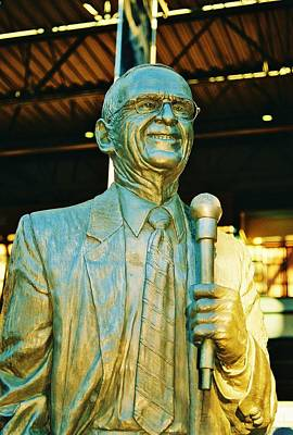 Ernie Harwell Statue At The Copa Poster by Daniel Thompson