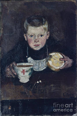 Errand Boy Drinking Coffee Poster by Christian Krohg