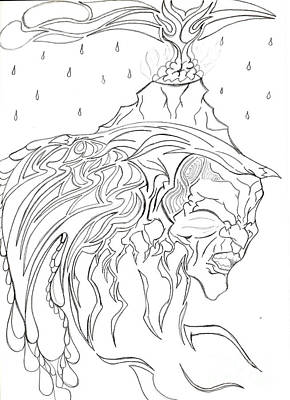 Eruption Of The Mind Mother Earth Poster by Minding My  Visions by Adri and Ray