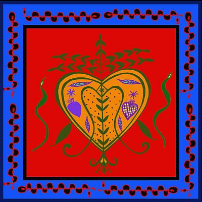Poster featuring the digital art Erzulie Freda by Vagabond Folk Art - Virginia Vivier