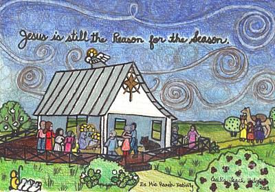 Es Mio Ranch Nativity Poster