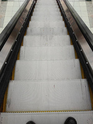 Escalator Poster by Les Cunliffe