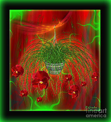 Poster featuring the digital art Escape - Floral Abstract Art By Giada Rossi by Giada Rossi