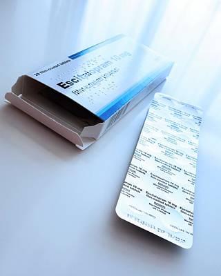 Escitalopram Antidepressant Tablets Poster by Cordelia Molloy