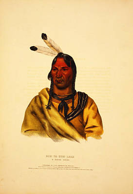 Esh Ta Hum Leah  A Sioux Chief Poster by Celestial Images