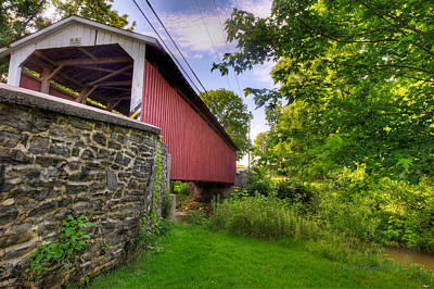 Poster featuring the photograph Eshelman's Mill Covered Bridge by Jim Thompson