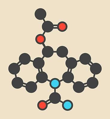Eslicarbazepine Acetate Molecule Poster by Molekuul