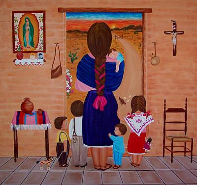 Esperando A Papa Poster by Evangelina Portillo