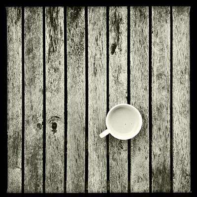 Espresso On A Wooden Table Poster