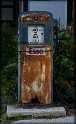 Esso Gas Pump Poster by Bill Cannon