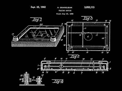 Etch A Sketch Patent 1959 - Black Poster by Stephen Younts