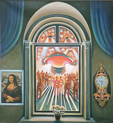 Eternity, 1968 Oil On Canvas Poster by Radi Nedelchev