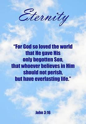 Eternity Poster John Three Sixteen Poster