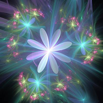 Poster featuring the digital art Ethereal Flower In Blossom by Svetlana Nikolova