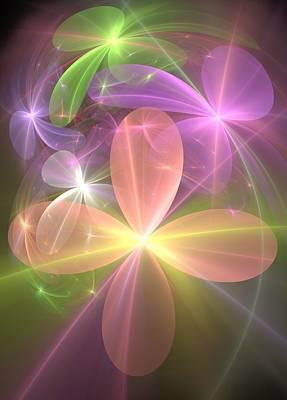 Poster featuring the digital art Ethereal Flowers by Svetlana Nikolova