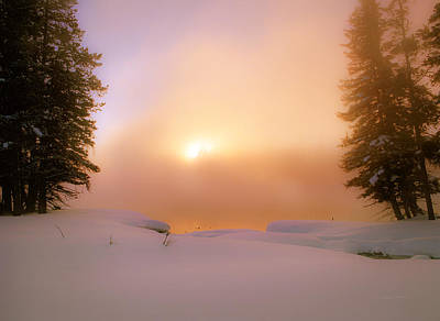 Ethereal Winter Sunrise Poster by Leland D Howard