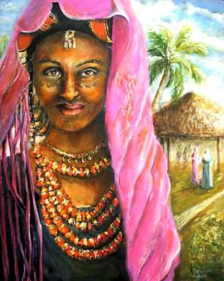 Poster featuring the painting Ethiopia Bride by Bernadette Krupa