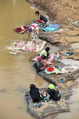 Ethiopian River Scene Poster