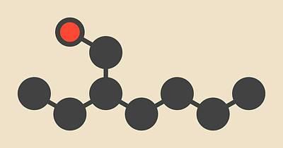 Ethylhexanol Molecule Poster by Molekuul