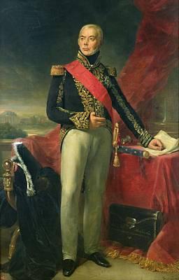 Etienne-jacques-joseph-alexandre Macdonald 1765-1840 Duc De Tarente And Marshal Of France, 1837 Oil Poster by Jean Sebastien Rouillard