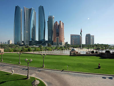 Etihad Towers And Other Tall Buildings Poster by Panoramic Images