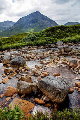 Etive Mor Stream Scotland Poster by Niall McWilliam
