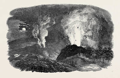 Etna In Eruption, The New Crater Poster