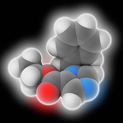 Etomidate Drug Molecule Poster by Laguna Design