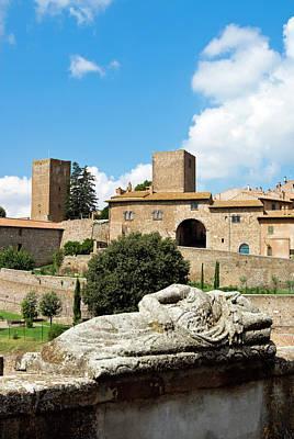 Etruscan Sarcophagus, Tuscania, Viterbo Poster by Nico Tondini