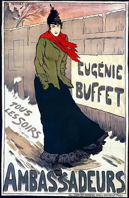 Eugenie Buffet Of Paris 1896 Poster