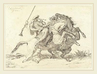 Eugène Delacroix French, 1798-1863, Encounter Poster