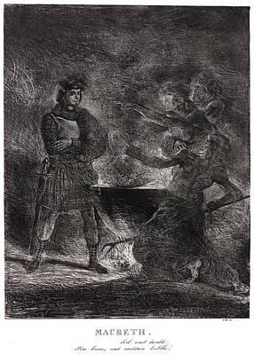 Eugène Delacroix French, 1798 - 1863. Macbeth. Toil Poster by Litz Collection