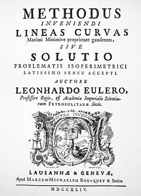 Euler Title-page, 1744 Poster by Granger
