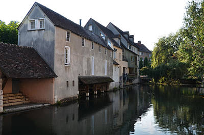Eure River And Old Fulling Mills In Chartres Poster