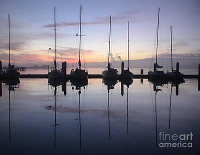 Eureka Harbor At Sunset Poster