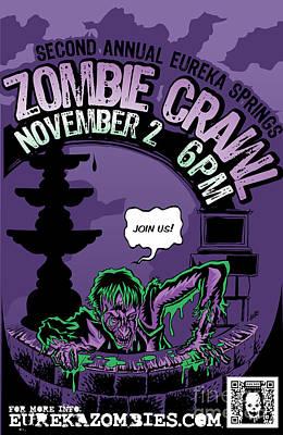 Eureka Springs Zombie Crawl 2013 Poster by Jeff Danos and Kiko Garcia